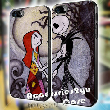 The Nightmare Before Christmas Couple Love iPhone 4, iPhone 4s, iPhone 5, iPhone 5s, iPhone 5c, Samsung Galaxy S3, Sasmsung Galaxy S4 Case
