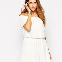 ASOS Gypsy Off Shoulder Dress with Short Sleeves