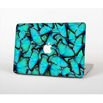 "The Turquoise Butterfly Bundle Skin Set for the Apple MacBook Pro 13"" with Retina Display"
