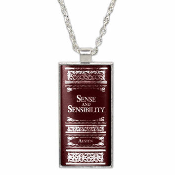 Jane Austen Sense and Sensibility Pendant Necklace