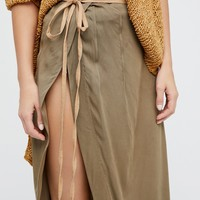 Free People Collins Wrap Skirt