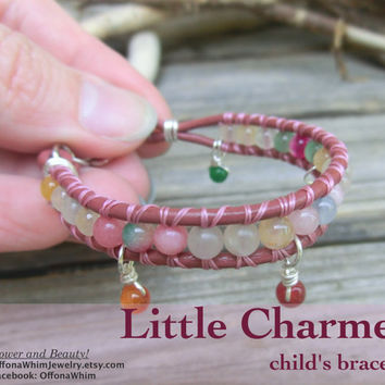 Childs Handmade Gemstone Keepsake Bracelet - Little Charmer