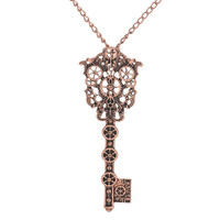 Steampunk Key Gears Necklace