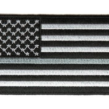 Thin Silver Line American Flag for Corrections
