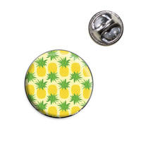 Pineapple Tropical Fruit Motif Pattern Lapel Pin