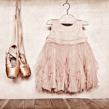 Vintage Ballet Slippers and dress 8x10 Print, Girls nursery, Nursery decor, Ballet Decor, Ballet Prints, Paris, French Decor French Country