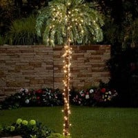 Large Lighted Palm Tree Tropical Outdoor Indoor Yard Garden Decor