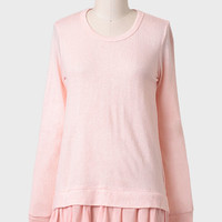 Astrid Bow Back Sweater In Pink