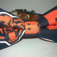 Chicago Bears Bow Tie  Dog or Cat Slide On by CarlitoCreations
