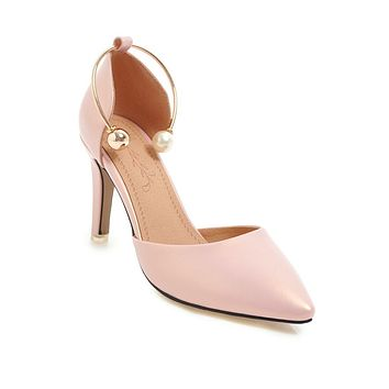 Pointed Toe High Heels Sandals Stiletto Heel Summer Shoes 6796