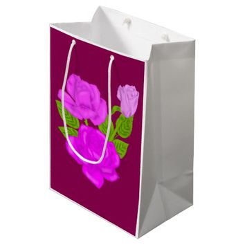 Pink Tea Rose Medium Gift Bag
