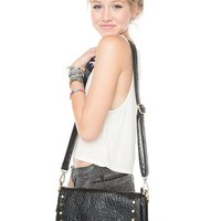 Brandy ♥ Melville |  Black Crossbody Bag with Studs - Bags - Accessories