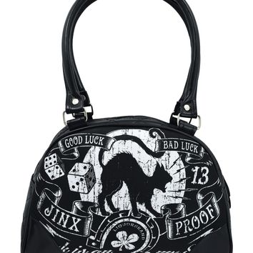 Liquorbrand Jinx Proof Black Cat Luck Goth Shoulder Purse