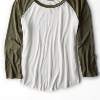 AEO Women's Soft & Sexy Baseball T-shirt