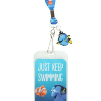 Disney Finding Nemo Just Keep Swimming Lanyard