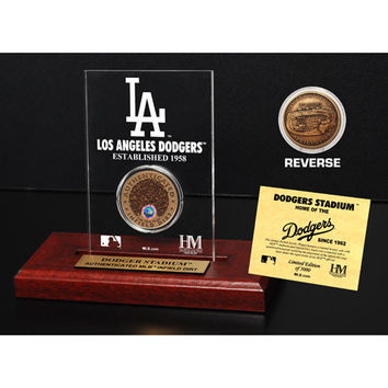 Dodger Stadium Infield Dirt Coin Etched Acrylic