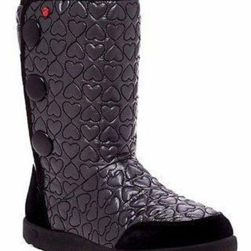 CREY1O Brand New UGG Australia Girl's I Heart Puffy Quilted Wool Lining Tall Boot US 5