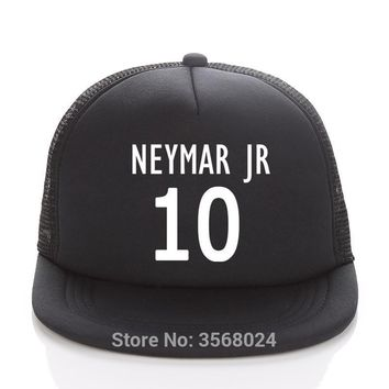 Trendy Winter Jacket NEYMAR JR Caps Football Fans Trucker Cap Custom Soccer Name Adult/Child Baseball hats DIY 10 neymar cap Fans Sun Snapbacks AT_92_12