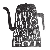 COFFEE & LOVE Canvas Print by Matthew Taylor Wilson