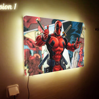Deadpool Night Light Any Picture Light Box Personalized Light Box Custom Made Light Sign Photo Sign Gift for Her Gift for Him Children