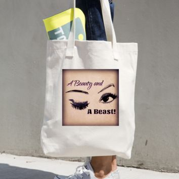 """Tote """"beauty and Beast"""" bag"""