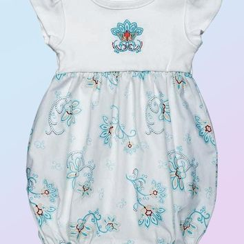 Organic Cotton Bubble Romper - Petals