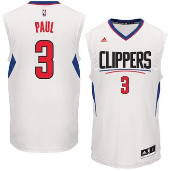 Men's LA Clippers Chris Paul adidas White Home Replica Basketball Jersey