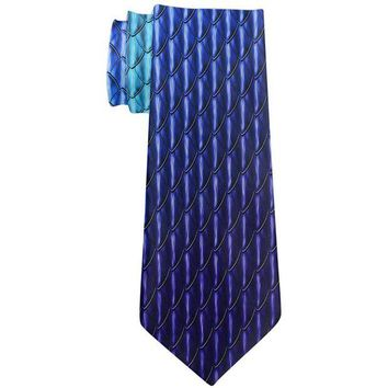 DCCKJY1 Halloween Blue Ice Dragon Scales Costume All Over Neck Tie
