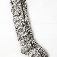 AEO Women's Marled Over The Knee Sock (Charcoal)
