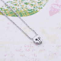 Silver Tiny Skeleton necklace