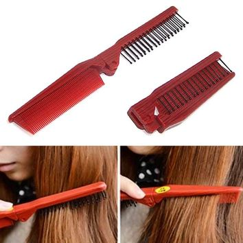 Folding Combs Haircut Makeup Beauty Comb Pro Hair Style Combs Styling Tools Anti-static Hair Care Hairbrush SSwell