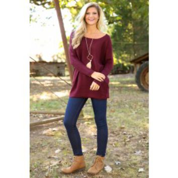 Better As A Memory Sweater-Burgundy
