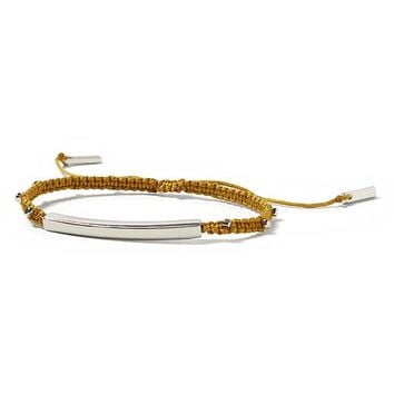 Banana Republic Slider Cord Bracelet Size One Size - Golden ornament