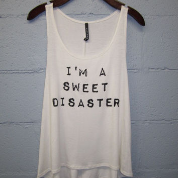 Sweet Disaster Tank-Ivory