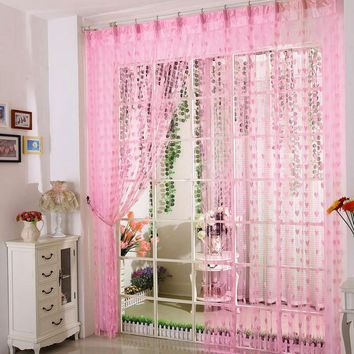 Heart String Blinds Curtains Window Room Blinds for Children lace curtains roman shades cortinas habitacion estores rideaux
