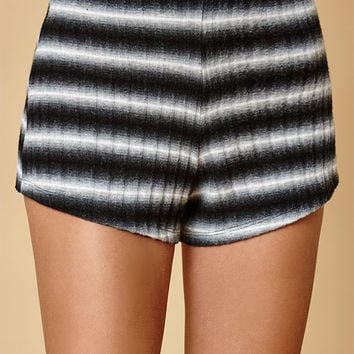 Honey Punch Black and White Stripe Shorts at PacSun.com