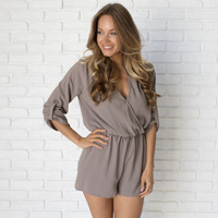 Finesse Romper In Mocha
