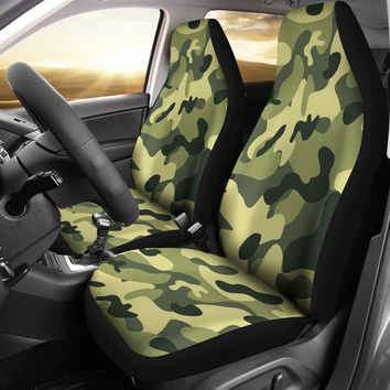 Green Camo Design Seat Covers
