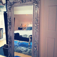 Fabulous and Baroque — Grand Beau Wall Mirror 6ft x 3ft- Silver Leaf - Client Photo