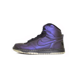 NIKE big high LE HOH abyss foamposite shoes -375665-501 - iridescent purple + black  - rare - mens nikes size 8.5