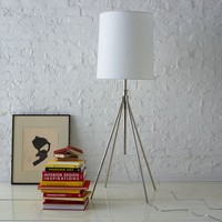 Adjustable Metal Floor Lamp - Polished Nickel