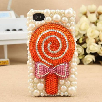Lollipop candy pearl iphone 4 case iphone 4s case