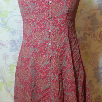 Vintage 90s Gap Button Up Short Flowing Dress