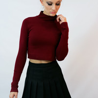 """Wino Forever"" Crop Turtleneck Sweater"