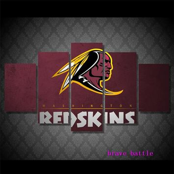 WASHINTON REDSKINS FOOTBALL Canvas Painting Living Room Home Decor Modern Mural Art Oil Painting#02