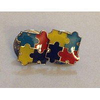 2 Autism Awareness Puzzle Tack Pins