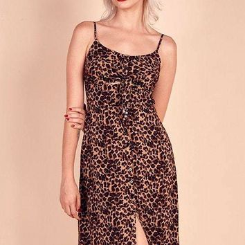 Meena Leopard Dress