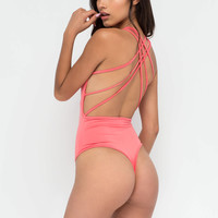 Strappy Together Thong Bodysuit