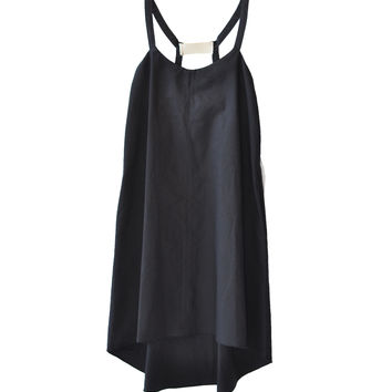 Hache Black Linen Shift Dress available at les pommettes los angeles