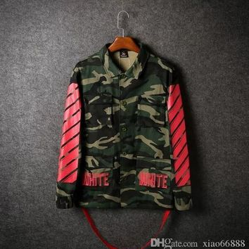 winter Top Design clothes coat kryptek camouflage camo armband off white 13 jacket